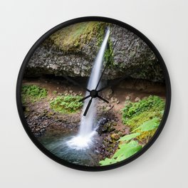 Ponytail Falls - Columbia River Gorge Wall Clock