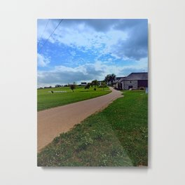 Country road with cloudy sky | landscape photography Metal Print