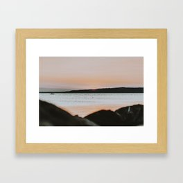 summer sunset xix / lake balaton, hungary Framed Art Print