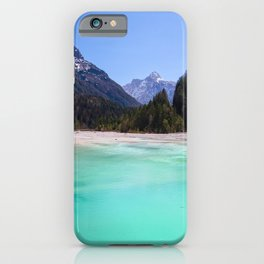 Stunning turquoise water in Kranjska Gora, Slovenia iPhone Case