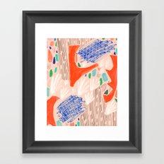 Seeing Spaces - Peach Framed Art Print