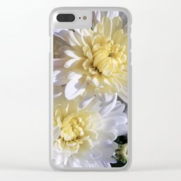 Fall Mums Clear iPhone Case