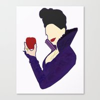 evil queen Canvas Prints featuring Evil Queen  by Swell Dame