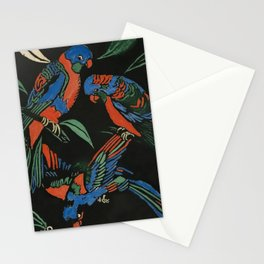 """""""Lorikeets"""" Woodcut by Margaret Preston Stationery Cards"""