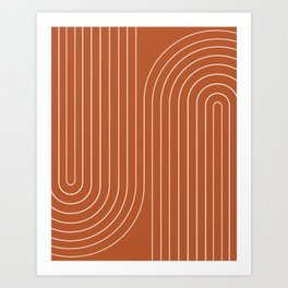 Minimal Line Curvature IX Art Print