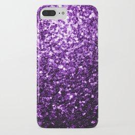 Beautiful Dark Purple glitter sparkles iPhone Case