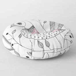 Madhubani Bird Floor Pillow