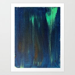 Blue torquise background on canvas Art Print