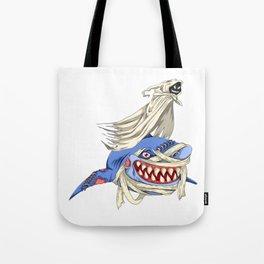 Halloween Ghost Shark Tote Bag