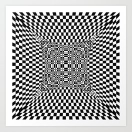 black white Art Print