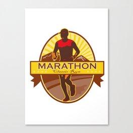 Marathon Classic Run Retro Canvas Print