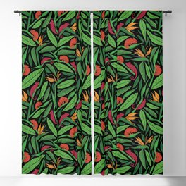Palm Fronds and Chameleons I Blackout Curtain
