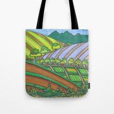 Colored Hills Tote Bag