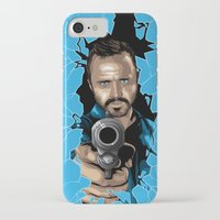 jesse pinkman iPhone & iPod Cases featuring Jesse Pinkman -Blue by Denis O'Sullivan