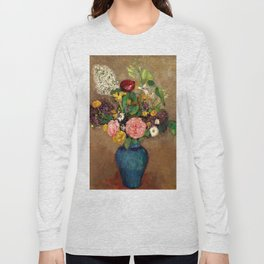 "Odilon Redon ""Vase de fleurs"" Long Sleeve T-shirt"