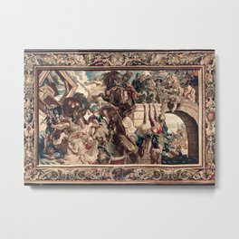 Triumph of Constantine over Maxentius at the Battle of the Milvian Bridge Metal Print