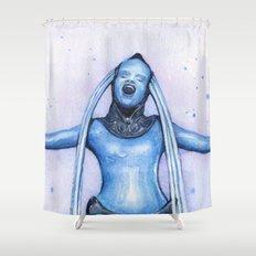 Diva Plavalaguna | Fifth Element Watercolor Art Shower Curtain