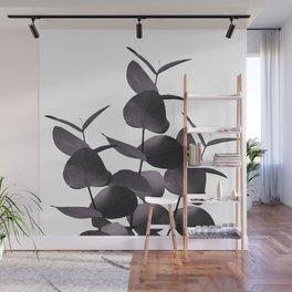 Eucalyptus Leaves Black White #1 #foliage #decor #art #society6 Wall Mural