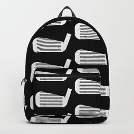 Golf Club Head Vintage Pattern (Black/White) Backpack
