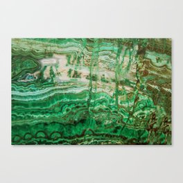 MINERAL BEAUTY - MALACHITE Canvas Print
