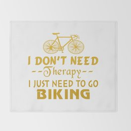 GO BIKING Throw Blanket