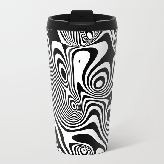 Trippy Background Metal Travel Mug
