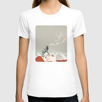 lady T-shirts featuring Deer Lady! by Sandra Dieckmann