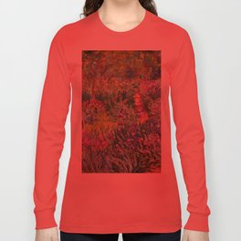 The Iris Garden at Giverny by Claude Monet Long Sleeve T-shirt