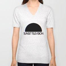 Sunset Television Logo Unisex V-Neck