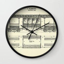 Railway Car-1892 Wall Clock
