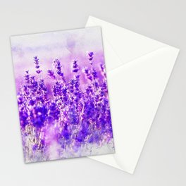 Lavender fields Stationery Cards