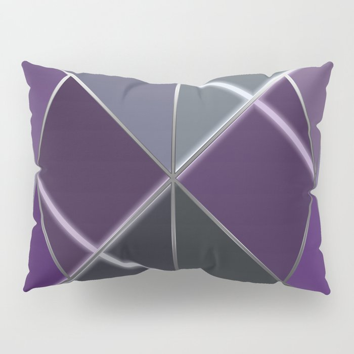 Mosaic tiled glass with a laser show Pillow Sham