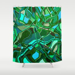 Abstract #8 - V - Jungle Book Shower Curtain