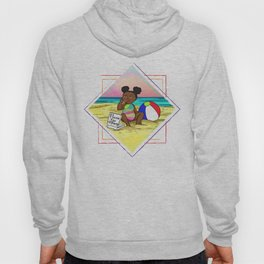 Pizza love at the beach Hoody