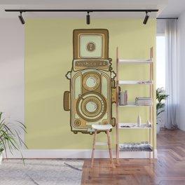 Vintage camera yellow Wall Mural