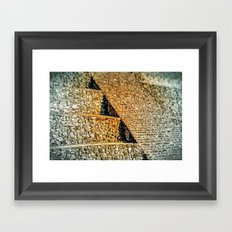 PATTERNS OF HISTORY Framed Art Print