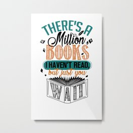 Million Books Metal Print