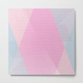 Pattern colors 2016 rose quarz and serenity blue Version 2 Metal Print