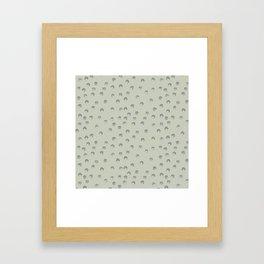 Greeen polyhedra Framed Art Print