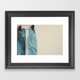 Doll Closet Series - Blue Dress Framed Art Print
