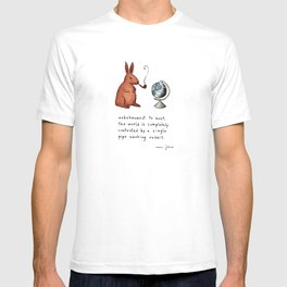 Pipe-smoking rabbit T-shirt