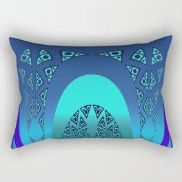 Orgy in blue pattern Rectangular Pillow
