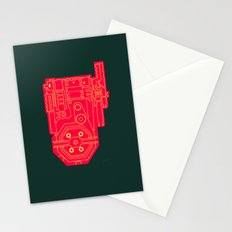 Circuit Drawing of a Proton Pack Stationery Cards