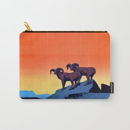 Illustrated Wild Life Preserve Print Carry-All Pouch