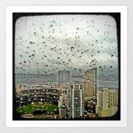 A Rainy Day in San Diego Art Print