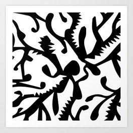 black ghosts Art Print