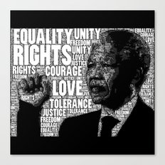Mandela tribute Canvas Print