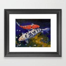 Bekko Koi Fish Framed Art Print
