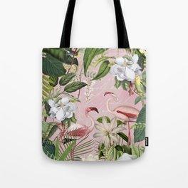 HAA-0266 Flamingos Tropical Paradise  Tote Bag
