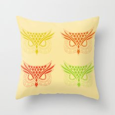 Owl Tribe Throw Pillow